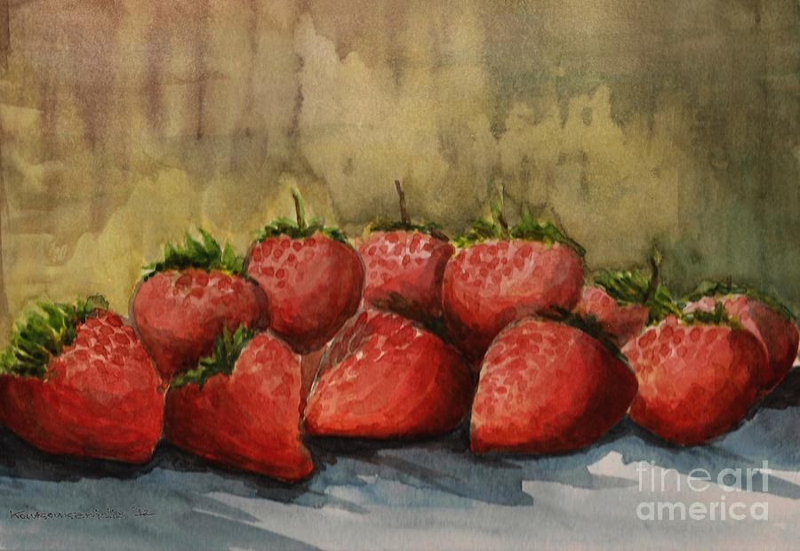 Paper Painting - Strawberries by Kostas Koutsoukanidis
