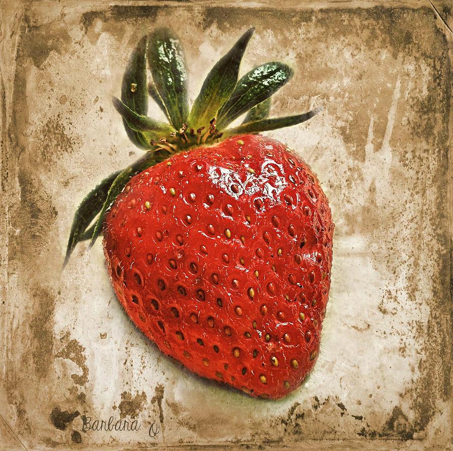 Strawberry Photograph - Strawberry  by Barbara Orenya