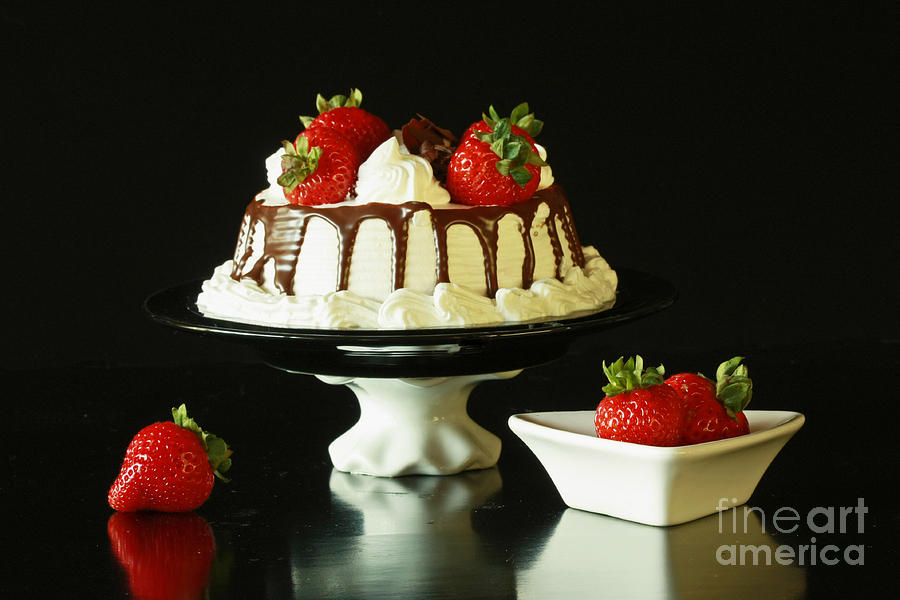Strawberry Photograph - Strawberry Chocolate Dream Cake by Inspired Nature Photography Fine Art Photography
