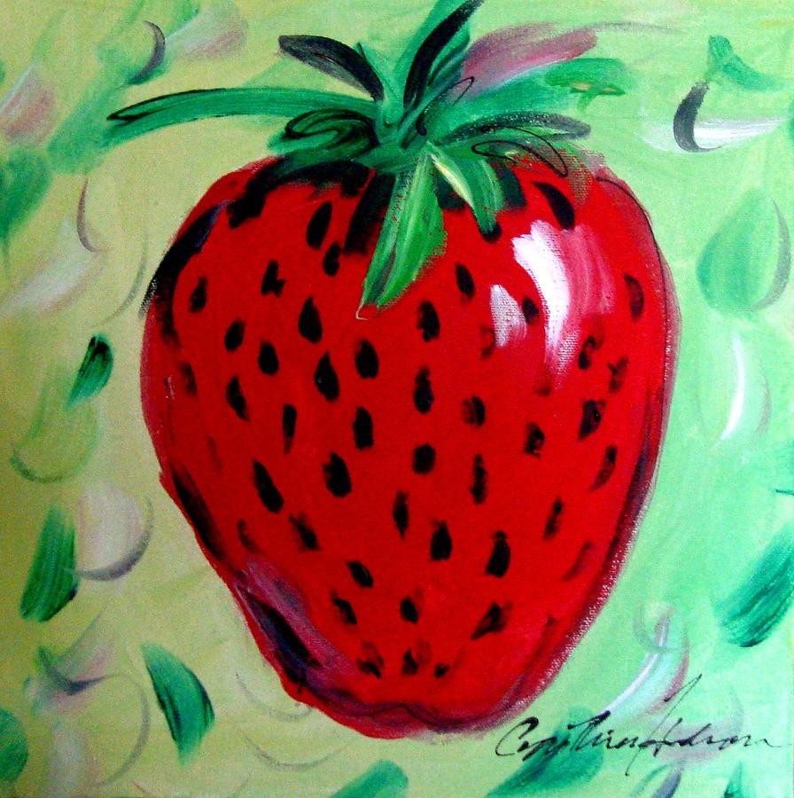 Strawberry Painting - Strawberry by Cynthia Hudson