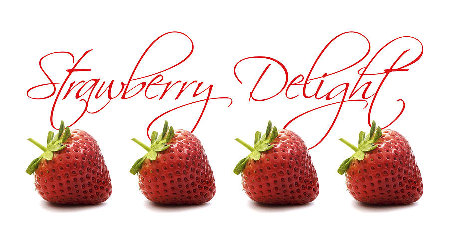 Strawberry Photograph - Strawberry Delight by Natalie Kinnear