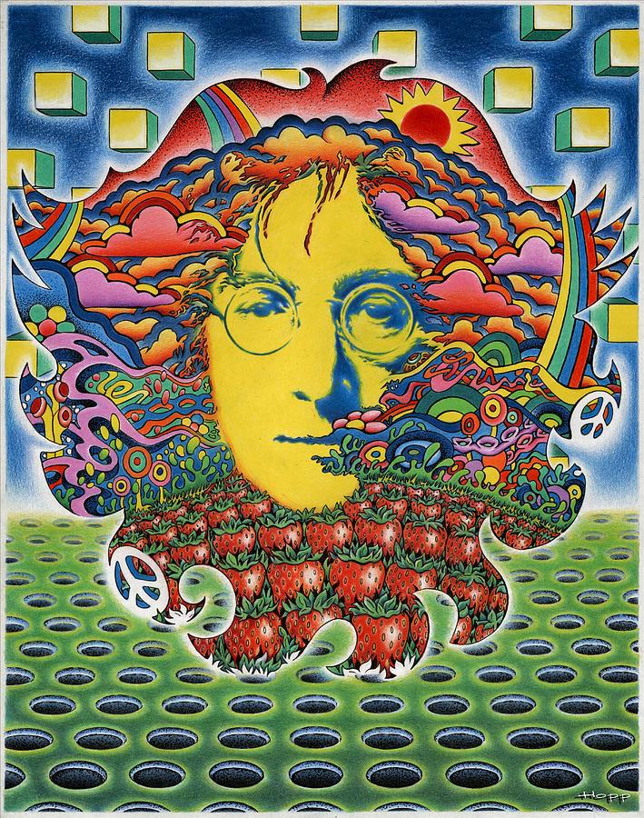John Lennon Painting - Strawberry Fields For Lennon by Jeff Hopp