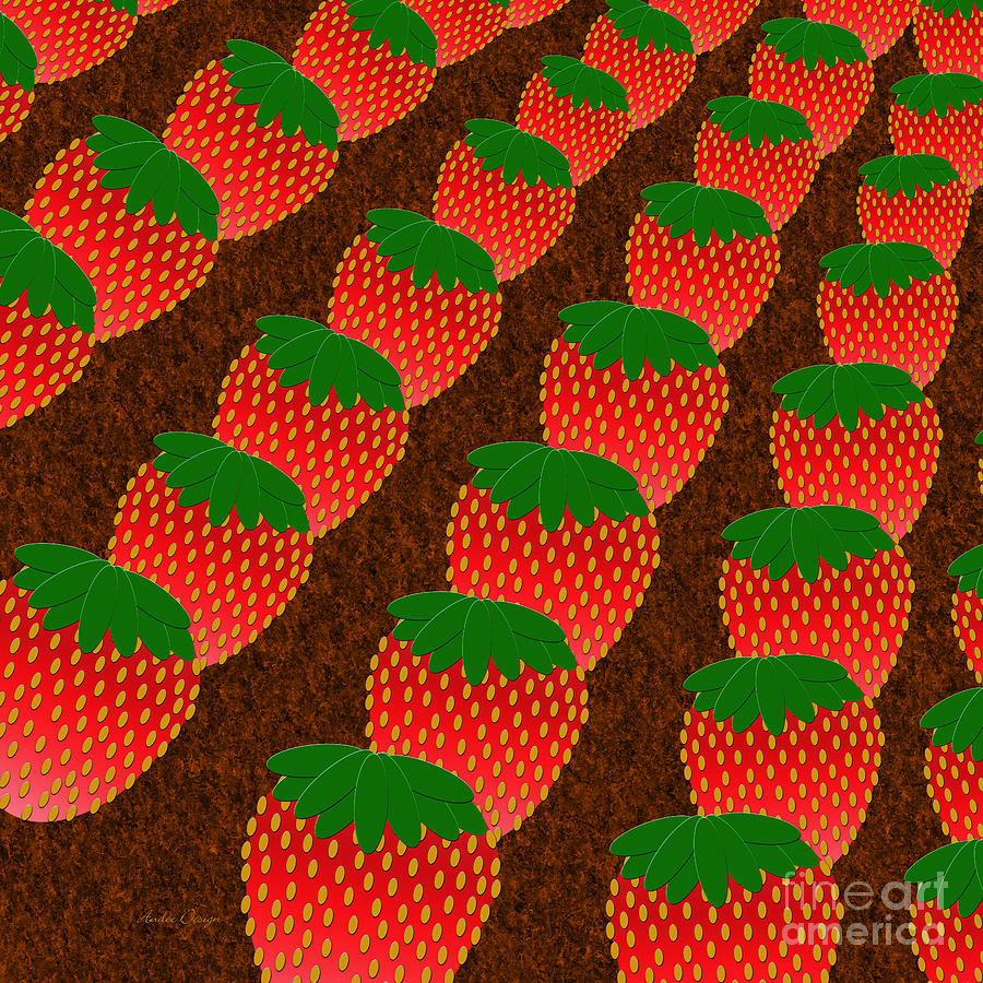Strawberry Digital Art - Strawberry Fields Forever by Andee Design