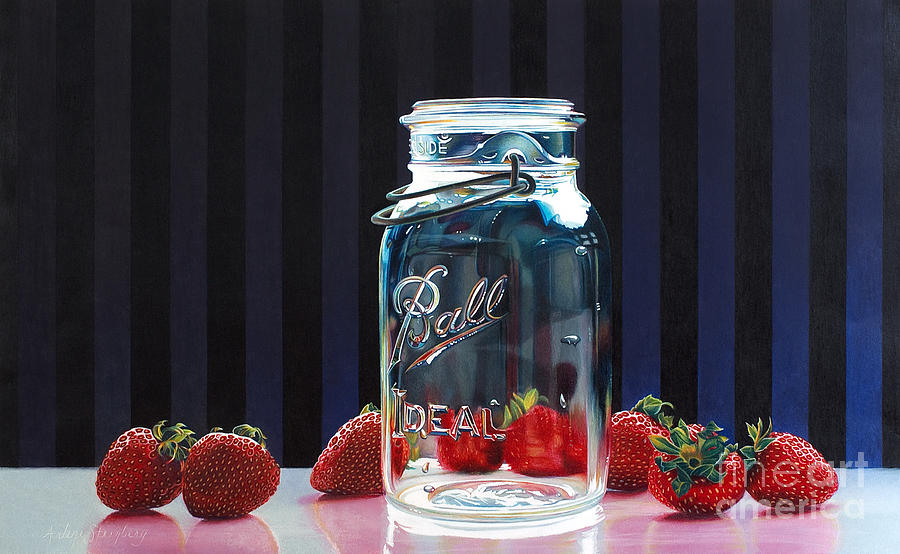 Colored Pencil Painting - Strawberry Jam by Arlene Steinberg