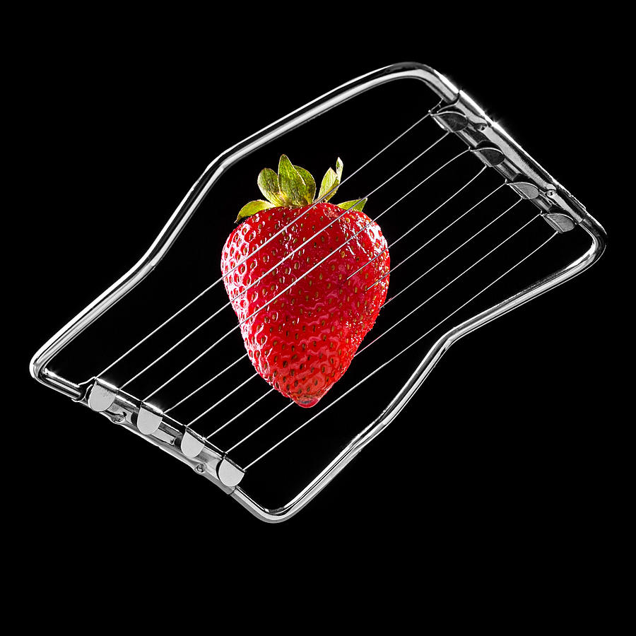 Strawberry Photograph - Strawberry On Egg Cutter by Billie-Maree Ward
