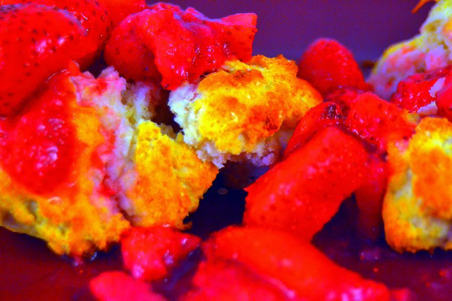 Strawberry Photograph - Strawberry Shortcake by Michael Sokalski