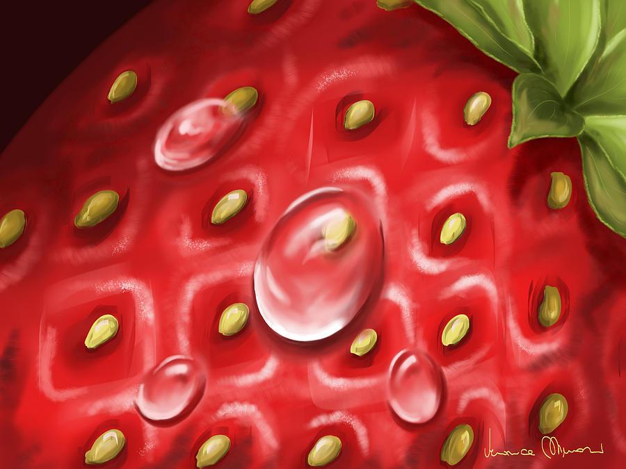 Digital Painting - Strawberry by Veronica Minozzi
