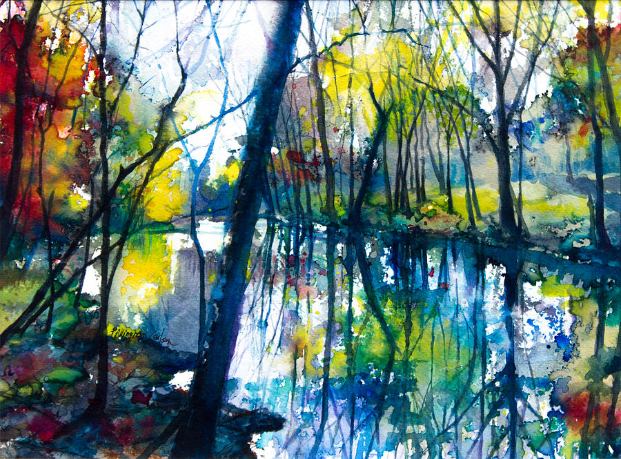 Stream At The Old Mill Painting