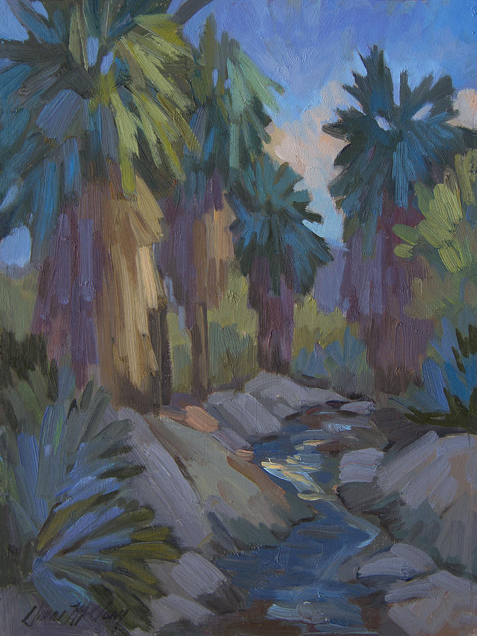 Palm Springs Painting - Stream In The Indian Canyons by Diane McClary