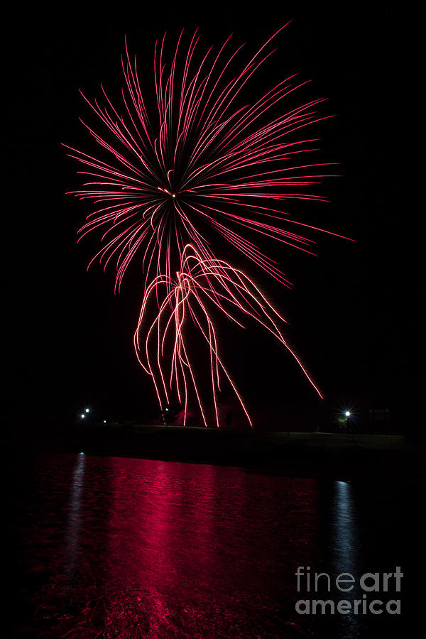 Fireworks Photograph - Streamers 2 by Jim McCain
