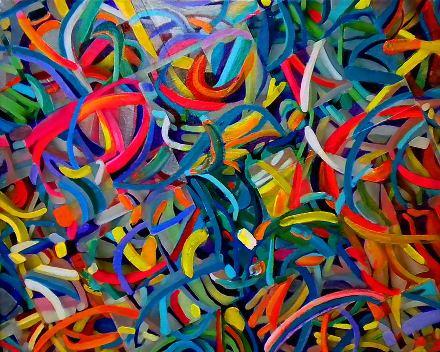 Abstract Painting - Streamers Of Joy by Michael Durst