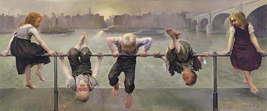 Arab Painting - Street Arabs At Play by Dorothy Stanley