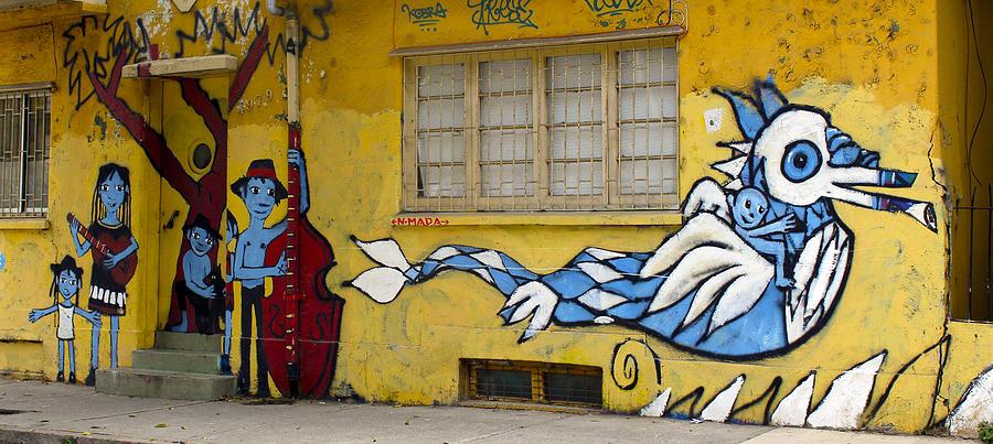Urban Photograph - Street Art Valparaiso Chile 12 by Kurt Van Wagner