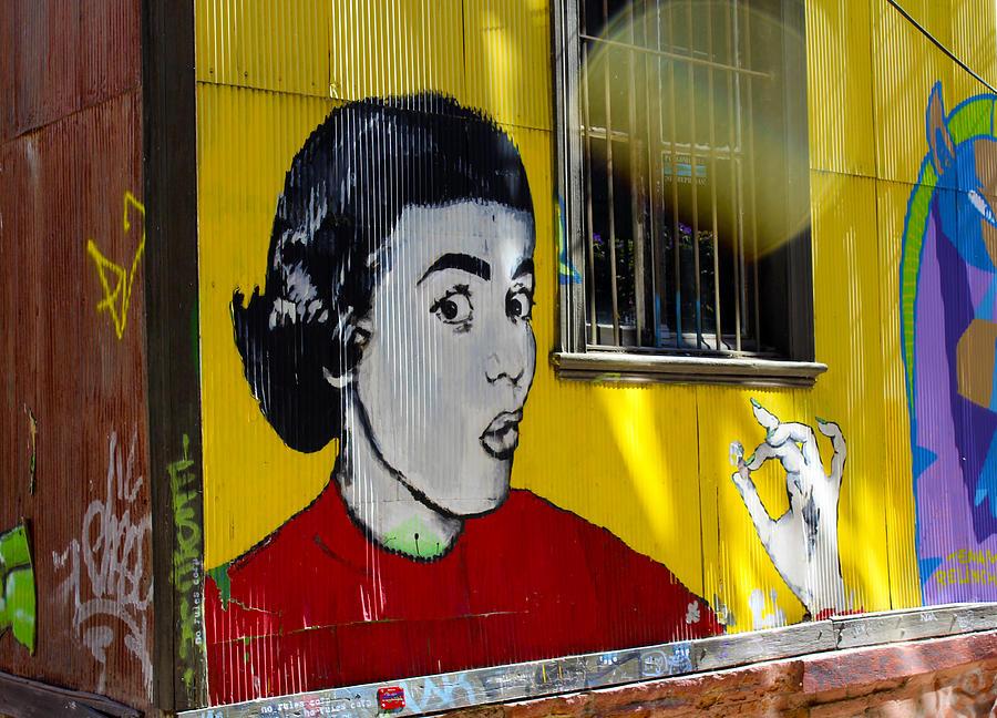 Urban Photograph - Street Art Valparaiso Chile 7 by Kurt Van Wagner