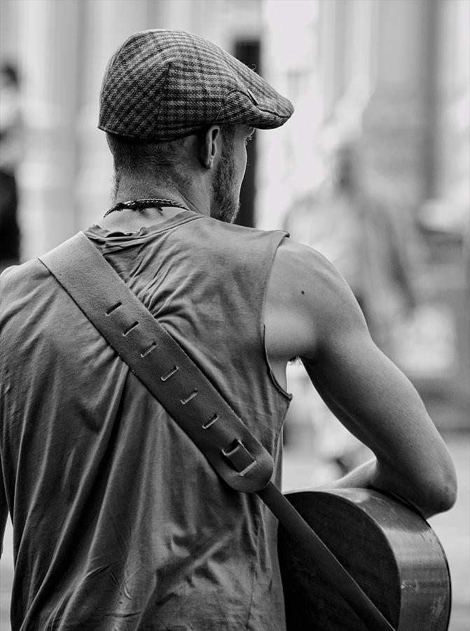 Guitar Photograph - Street Guitar Player by Britt Runyon