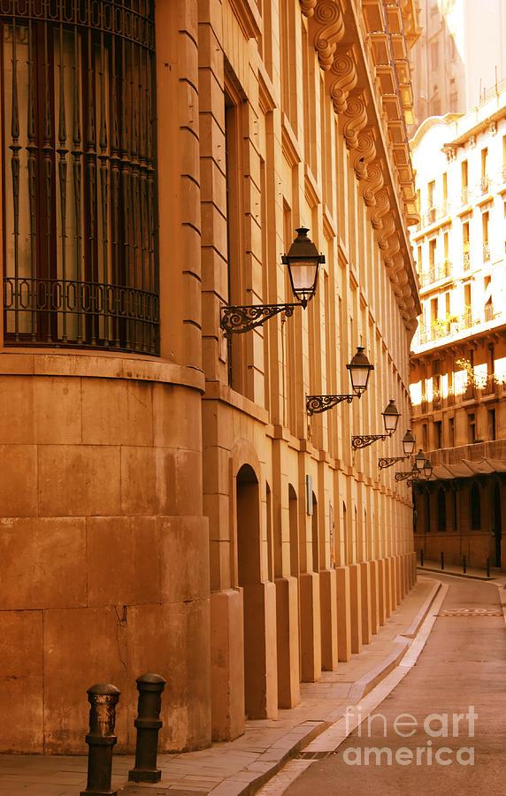 Barcelona Photograph - Street In Barcelona by Sophie Vigneault