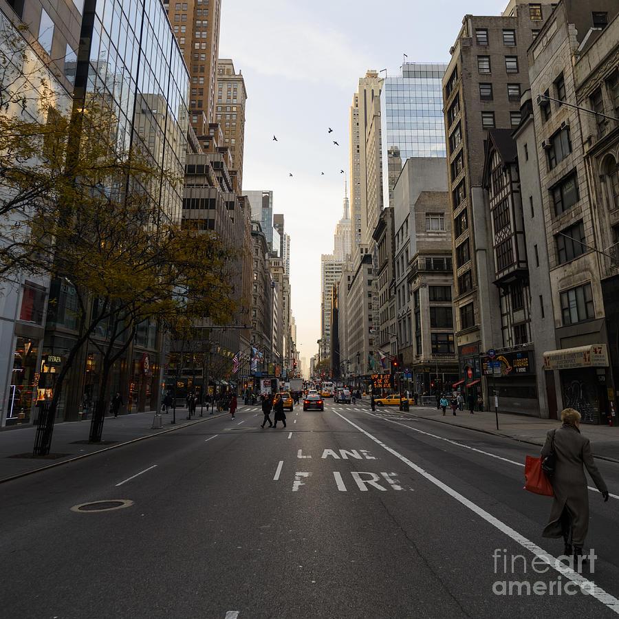 Manhattan Streets: Street In Manhattan Photograph By Stelios Michael