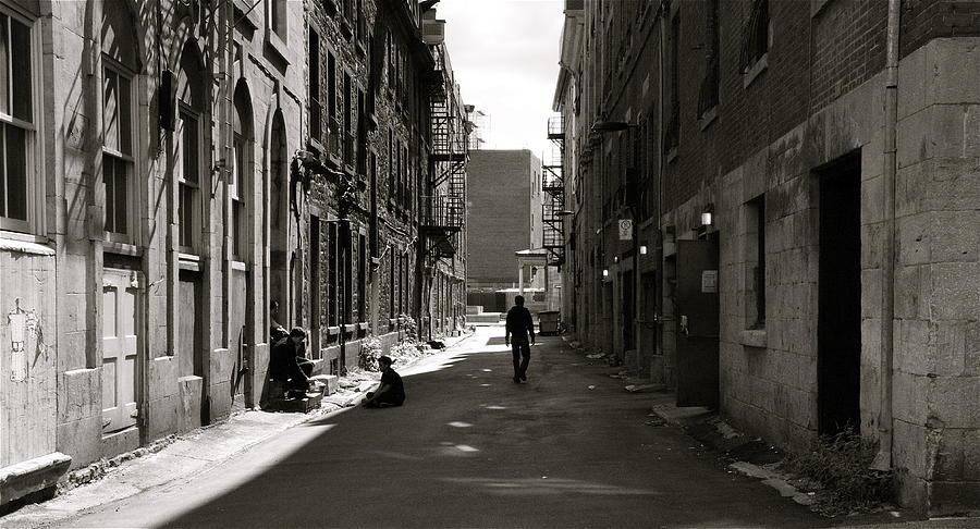 Street Photograph - Street In Sunshine by Jocelyne Choquette