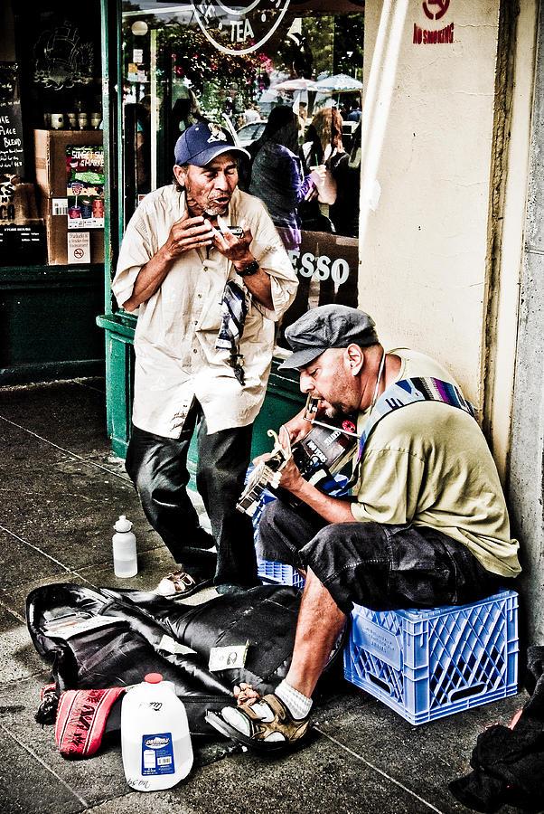 Street Photograph - Street Jammin by Jim Thompson