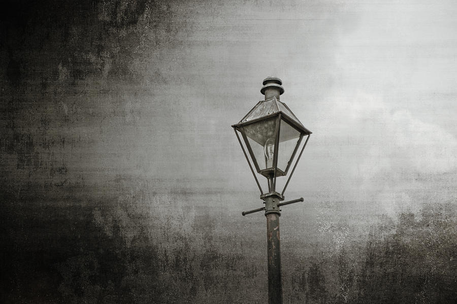 New Orleans Photograph - Street Lamp On The River by Brenda Bryant