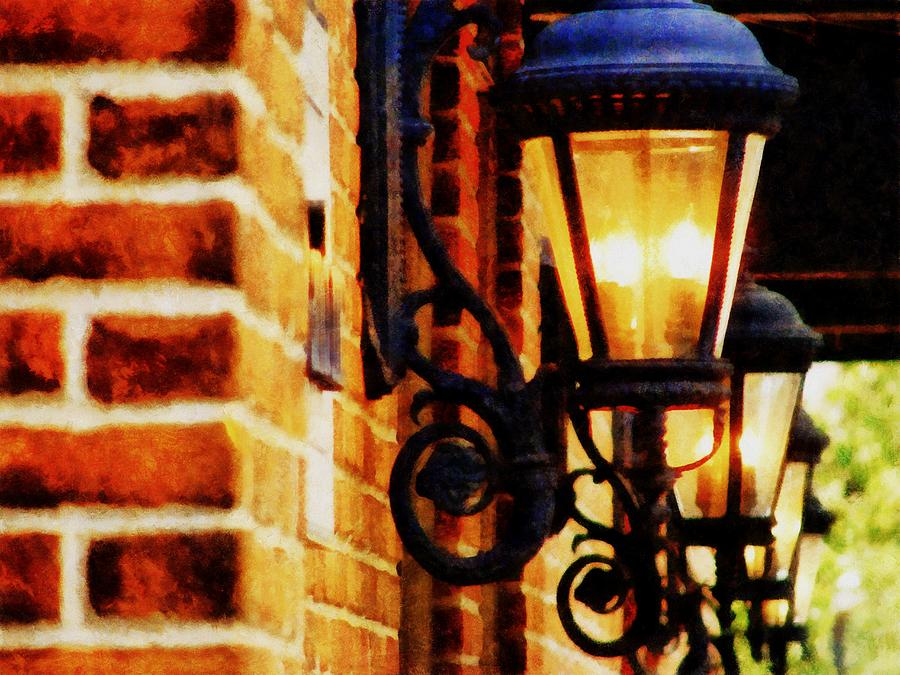 Village Photograph - Street Lamps In Olde Town by Michelle Calkins