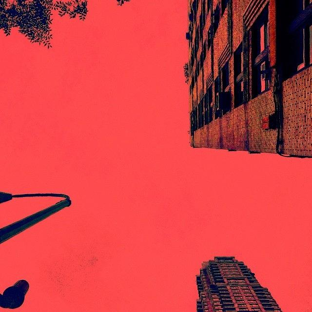 Surreal Photograph - Looking Up NYC by Merideth Bray
