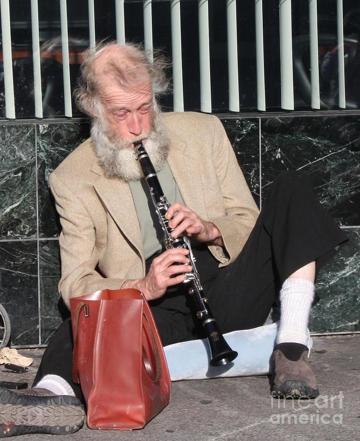 Street Musician Photograph - Street Musician by John Telfer