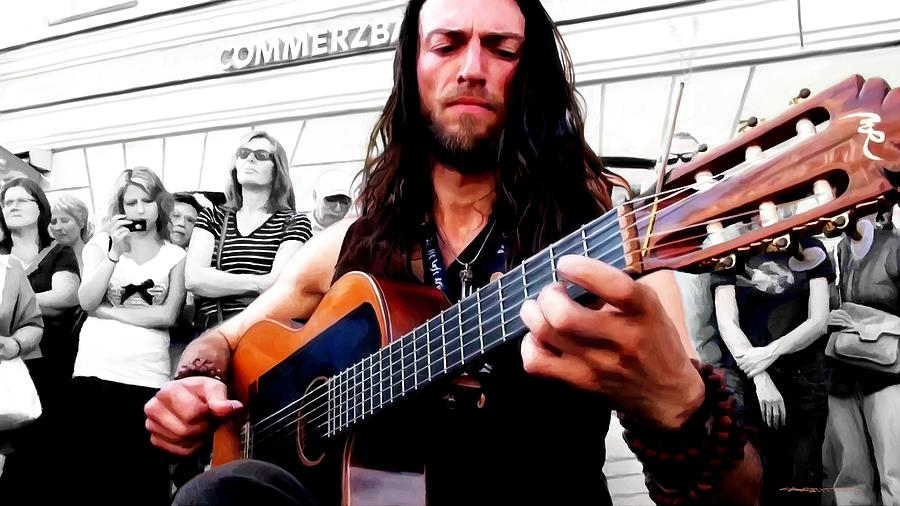 Musician Digital Art - Street Musician Series #1 by Gabriel T Toro