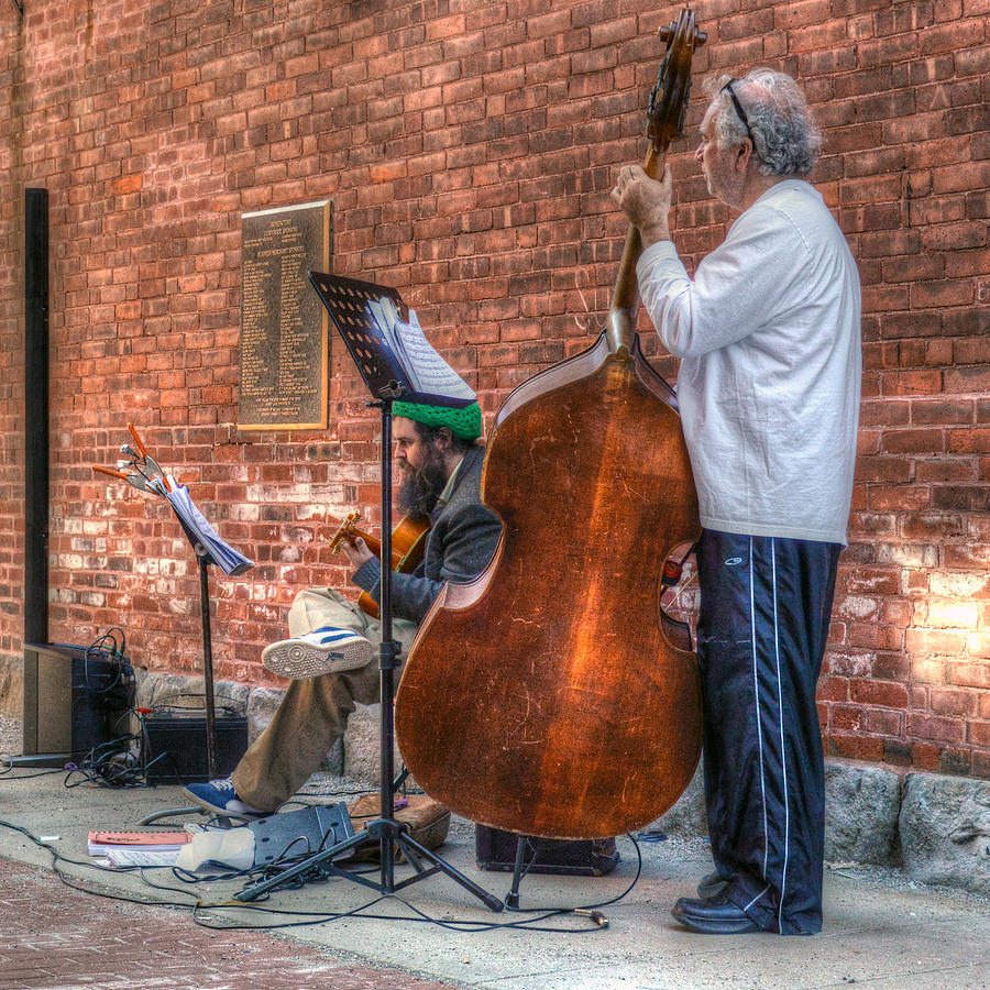 Musician Photograph - Street Musicians - Great Barrington - No. 2 by Geoffrey Coelho