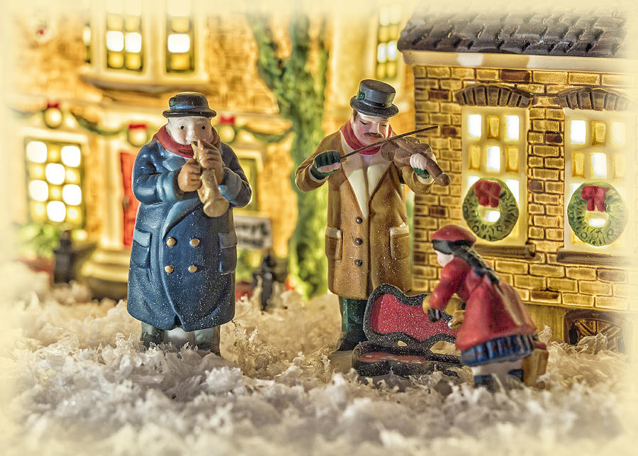 Christmas Photograph - Street Musicians by Caitlyn  Grasso