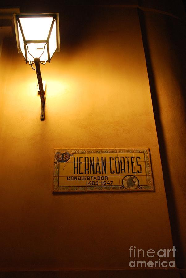 Street Lamp Photograph - Street Of A Conquistador  by Susan Hernandez