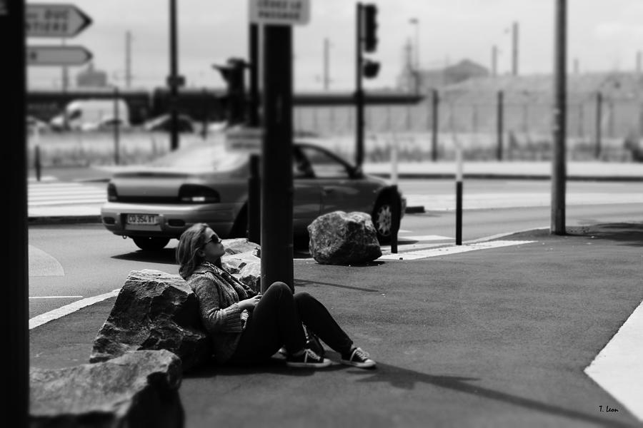 Portrait Photograph - Street Portrait by Thomas Leon