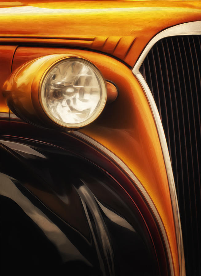 Photo Painting - Street Rod 3 by Jack Zulli