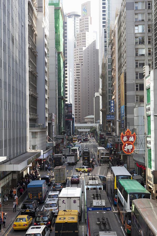 Street Scene, Hong Kong, China Photograph by Cultura Rf/nancy Honey