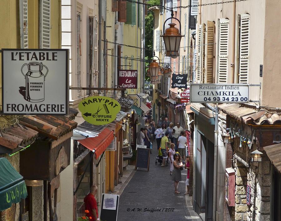 Antibes Photograph - Street Scene In Antibes by Allen Sheffield