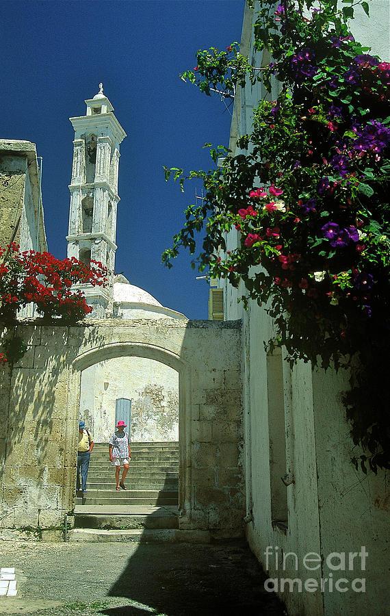 Landscape Photograph - Street-scene In Kyrenia In Northern Cyprus  by Alex Cassels