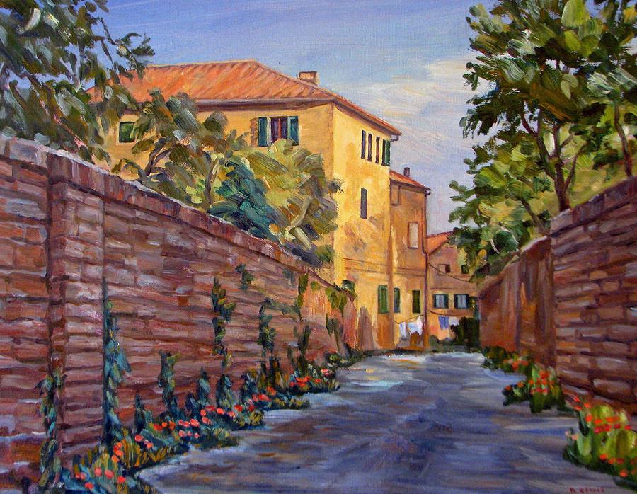 Sienna Painting - Street Scene Sienna Tuscany by Robert Gerdes