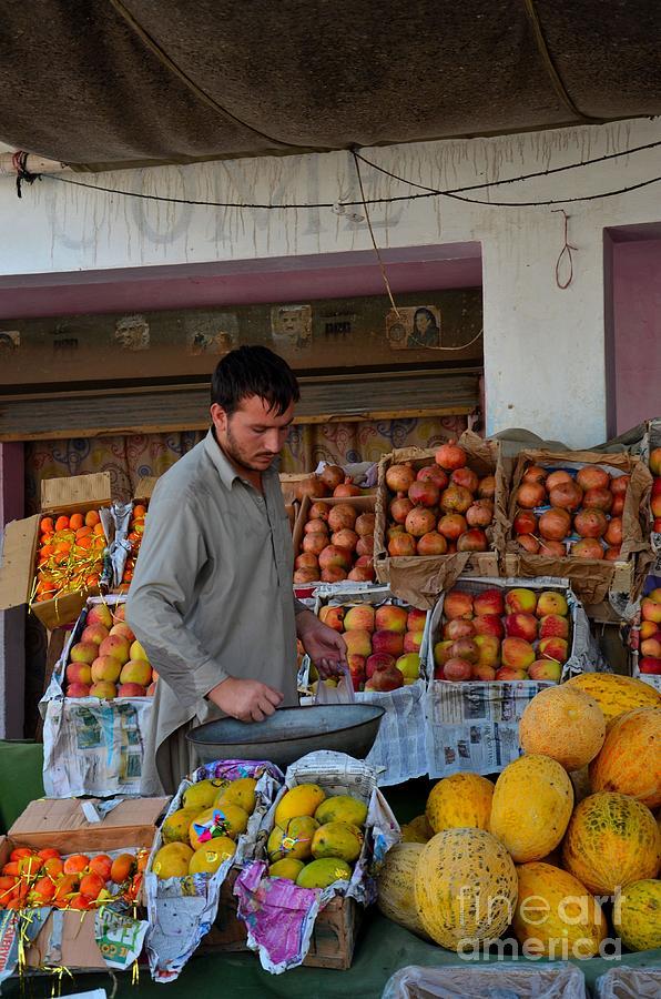 Fruit Photograph - Street Side Fruit Vendor Islamabad Pakistan by Imran Ahmed