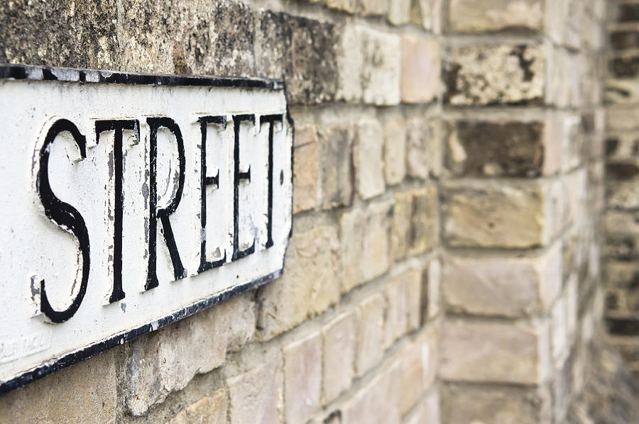 Black Photograph - Street Sign by Tom Gowanlock