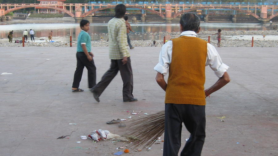 India Photograph - Street Sweep by Russell Smidt