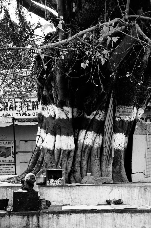 Khajuraho Photograph - Street Tea Stall by Money Sharma