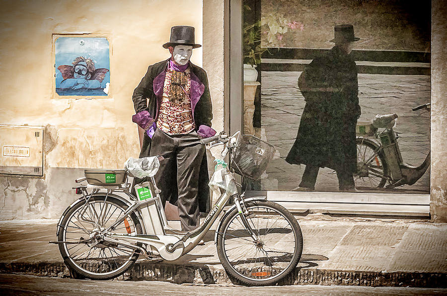 Bicycle Photograph - Street Vendor by Maria Coulson