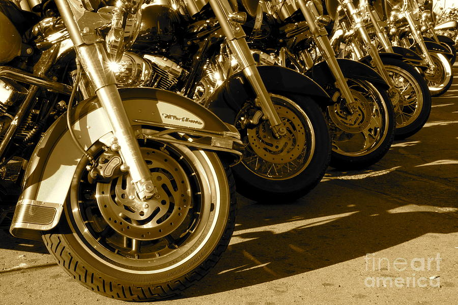 Reno Photograph - Street Vibrations Sepia by Vinnie Oakes