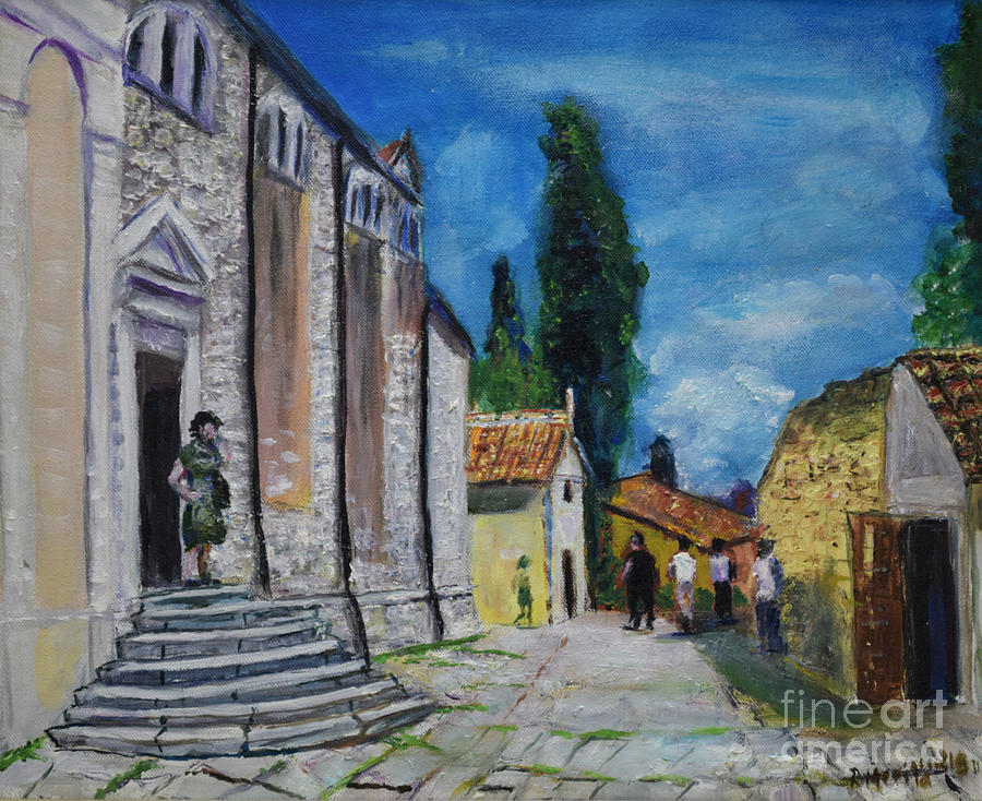 Street View in Rovinj by Raija Merila