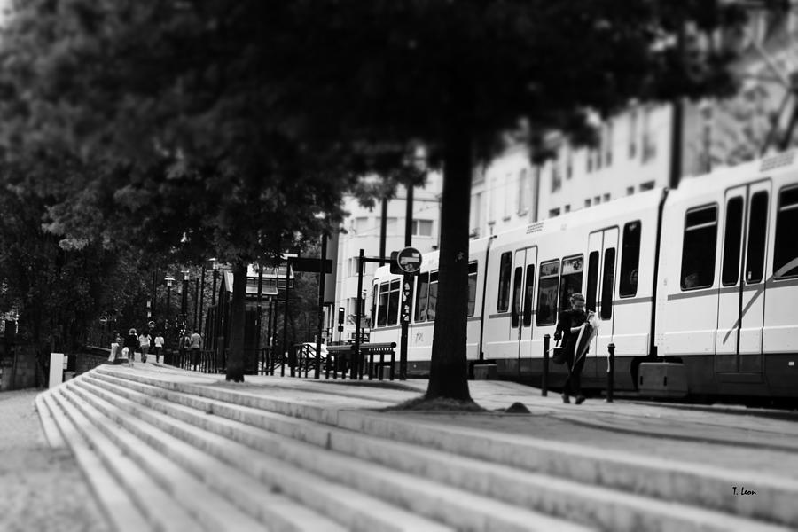Tramway Photograph - Street View by Thomas Leon
