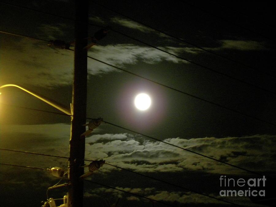 Full Moon Photograph - Street Views 1 by Laura Yamada