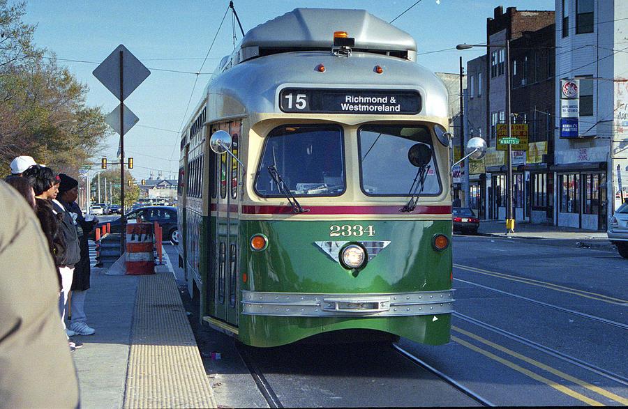 Streetcar Photograph - Streetcar In Philadelphia by Eric Miller