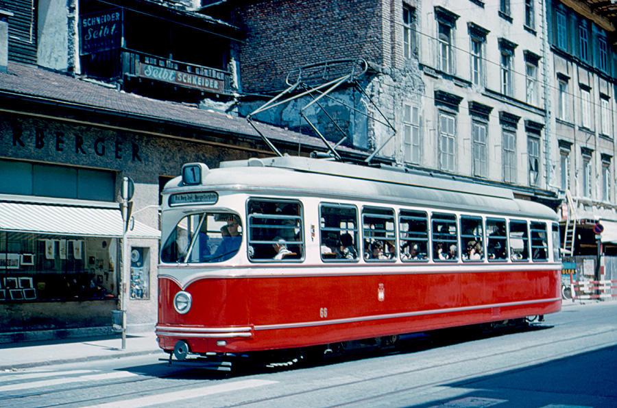 Streetcar Photograph - Streetcar Innsbruck 1962 by Cumberland Warden