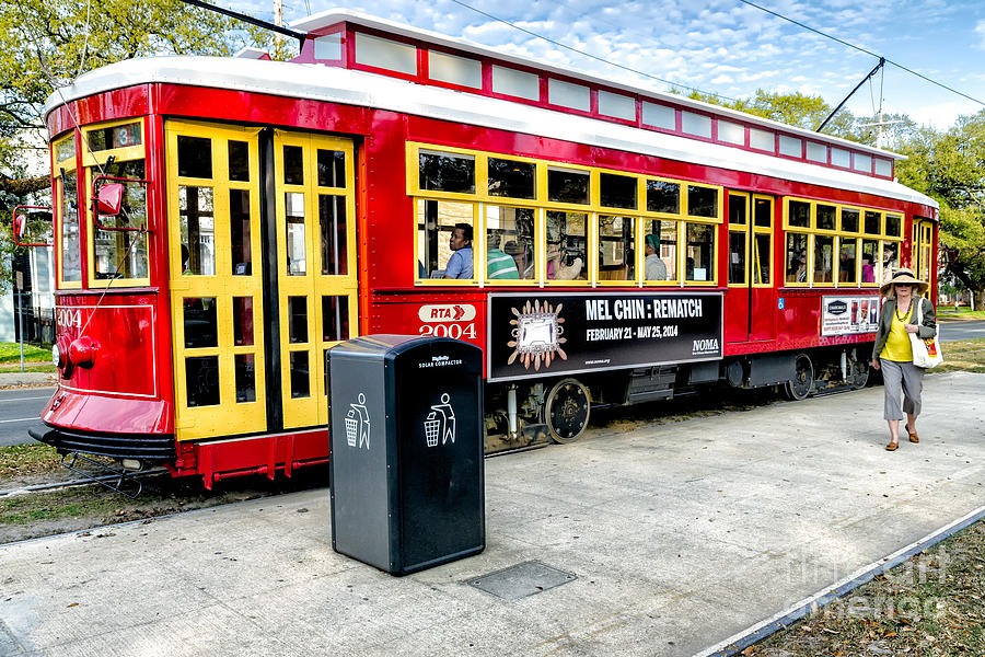 New Orleans Photograph - Streetcar On Canal Street Nola by Kathleen K Parker