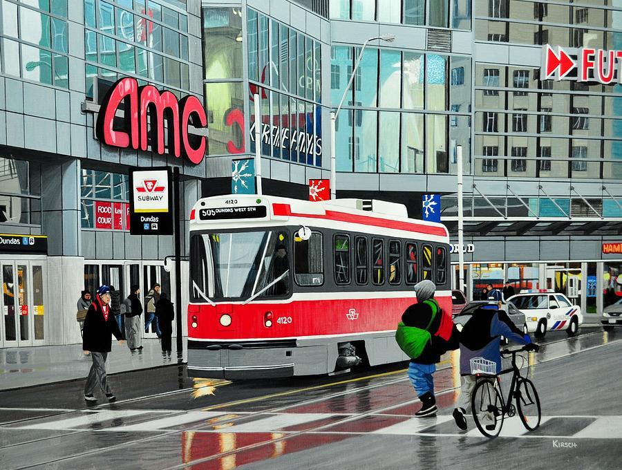 Streetcar Painting - Streetcar On Dundas by Kenneth M  Kirsch